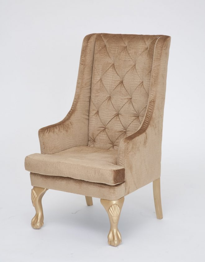 gold high back wing chair nage designs tall armchair