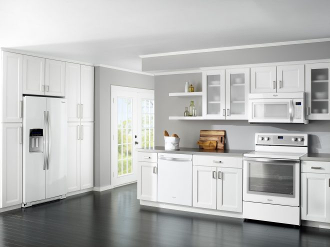good looking modern grey and white kitchen cabinets designs