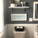 goode pine cabinets white bathroom decor gray