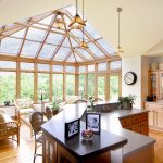 gorgeous and open kitchen let us build a sunroom addition