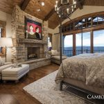 gorgeous master bedroom featured in the park city area