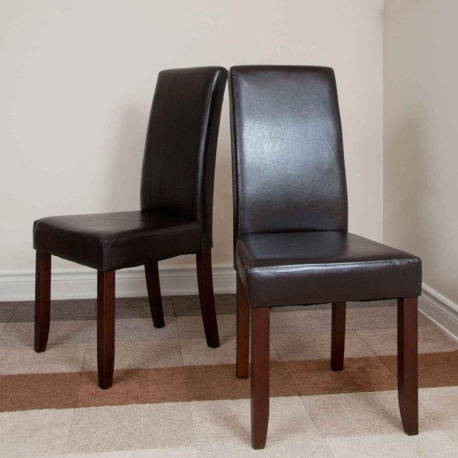 gorgeous set of 4 parsons chairs furniture fascinating