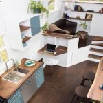 gorgeous tiny home w natural wood accents elevated living room