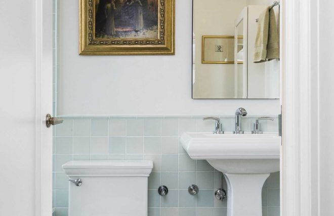 graceful interior inspiration at pedestal sink for small