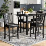 gracie oaks wanette 5 piece counter height dining set reviews