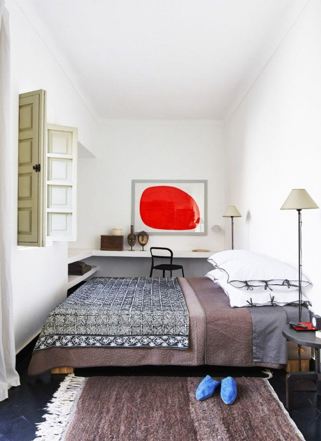 graphic style in a moroccan riad beautiful bedroom designs