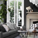 gray couch with dark walls living room inspiration living