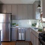 gray kitchen cabinets as neutral furniture to decorate