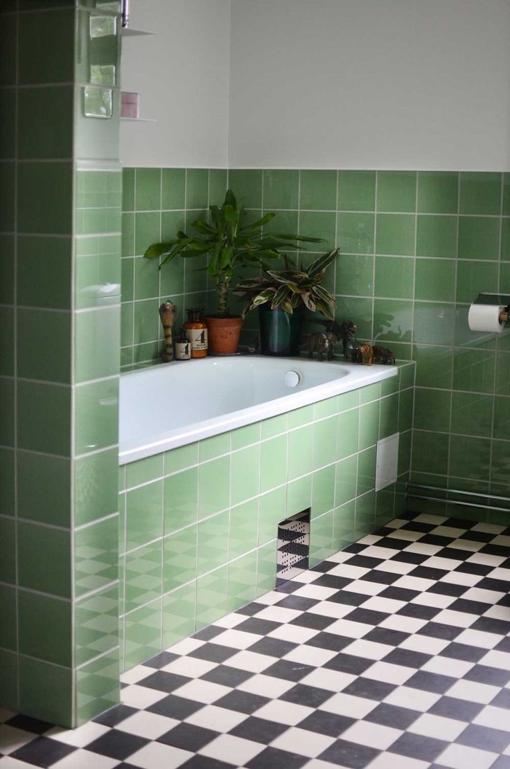 green bathroom tile impressive floor tiles tub home designs