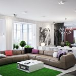 green brown living room l shaped sofa my decorative