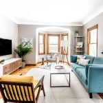 grey living room ideas with a mid century modern style