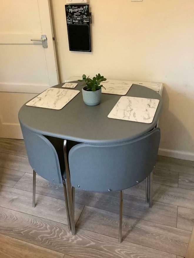 grey space saver dining room table and 4 chairs in norwich norfolk gumtree