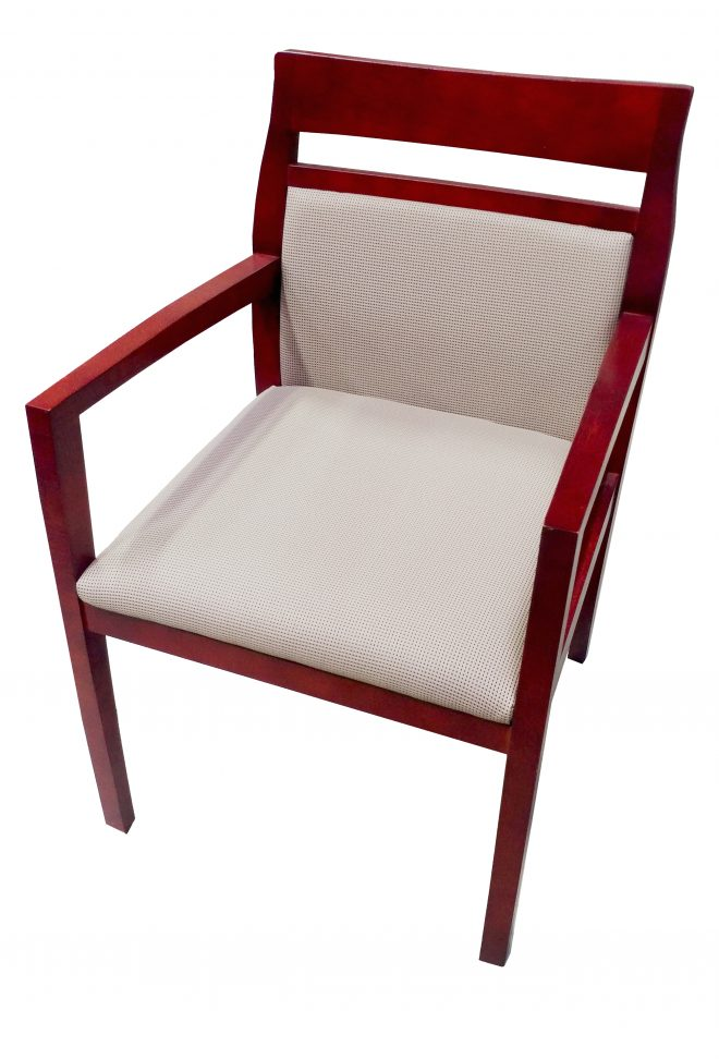 guest chair with tan fabric paoli