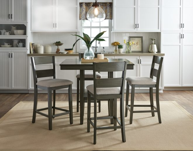 gwyneth 5 piece counter height dining set reviews birch lane