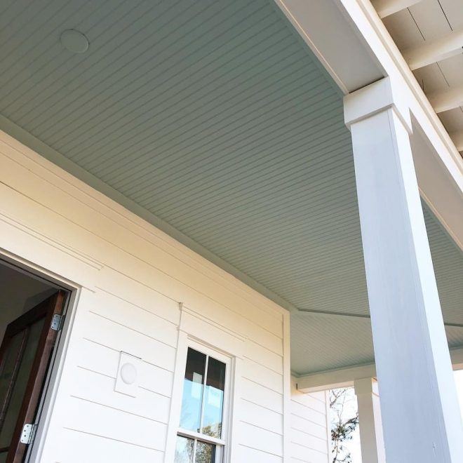 haint blue porch ceiling painted in palladian blue