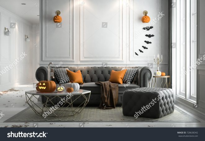 halloween party living room decorations lanterns