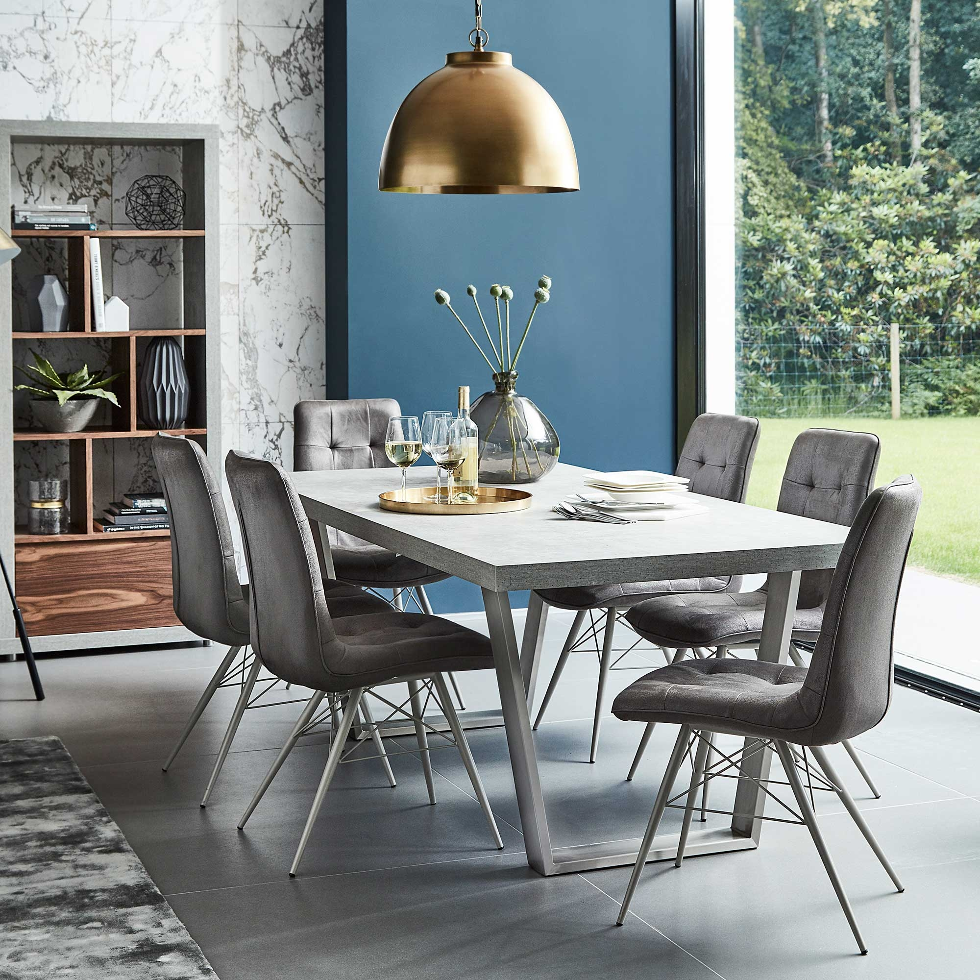 halmstad dining table concrete tables dining room