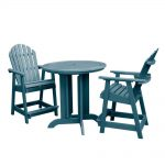 hamilton 3pc round counter dining set nantucket blue