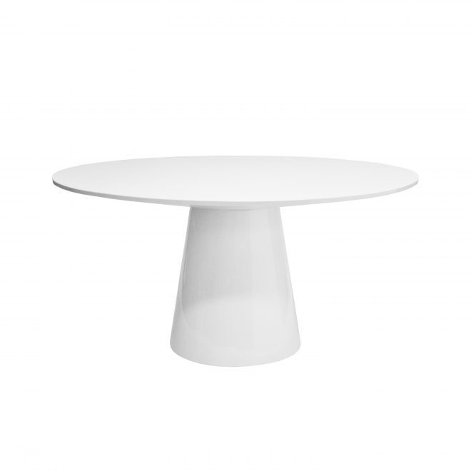 hamilton white lacquer dining table shop now
