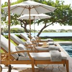 hampstead single chaise with wheels honey at pottery barn outdoor