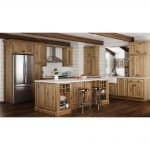 hampton bay hampton assembled 36x42x12 in wall kitchen cabinet in natural hickory