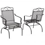 hampton bay nantucket rocking metal outdoor dining chair 2 pack