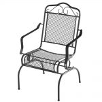 hampton bay nantucket rocking metal outdoor patio dining chair