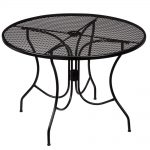 hampton bay nantucket round metal outdoor patio dining table