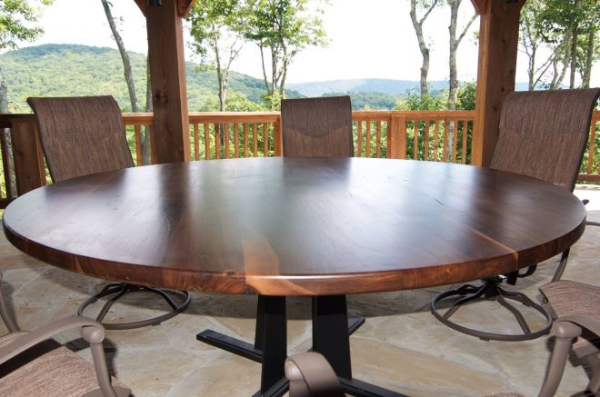 hand crafted round dining table in any size or species