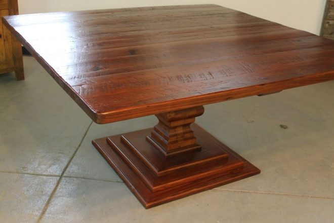hand made 72 square dining table ecustomfinishes