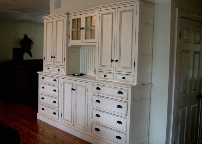 handmade white kitchen hutch blackington furniture custommade