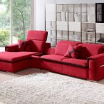 harding modern red fabric sectional sofa