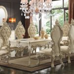 hd 13012 homey design royal palace dining set in 2019