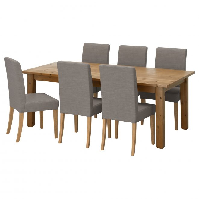 henriksdalstorns table and 6 chairs antique stainnolhaga