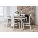 hever dining table with 6 chairs in white and dark pine noa nani