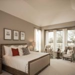 high ceilings in a master bedroom give the impression of