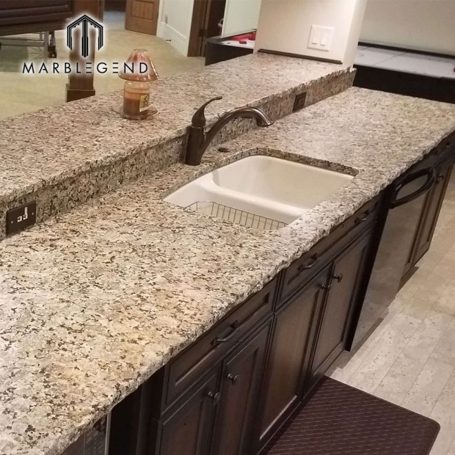 high quality chiseled edge kitchen beige butterfly granite