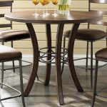 hillsdale cameron round counter height table in chestnut brown 4671 837838