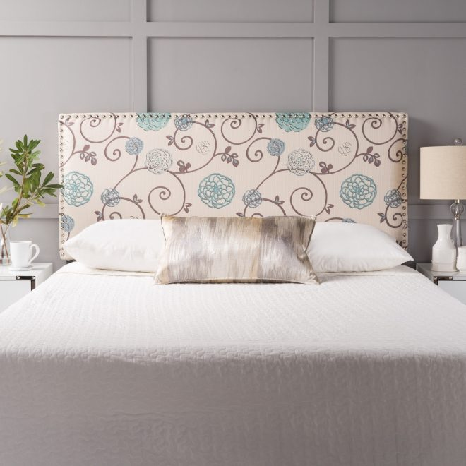 hilton adjustable full queen floral fabric headboard christopher knight home