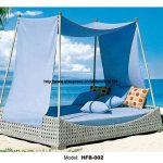 holiday beach bed outdoor furniture rattan bed sofa bed
