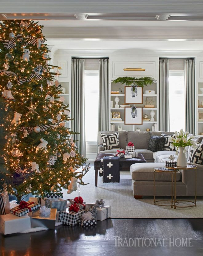 holiday home in black and white traditional home magazine