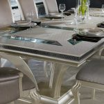 hollywood swank large dining table aico aico dining