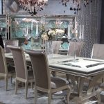 hollywood swank rectangular glam dining room set michael amini jane seymour aico