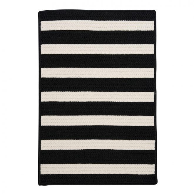 home decorators collection baxter black white 2 ft x 3 ft indooroutdoor braided area rug