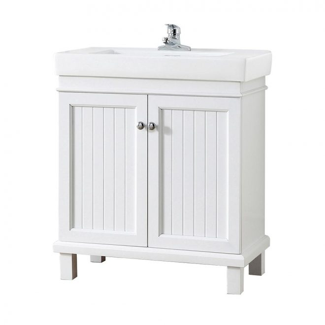 home decorators collection parkbridge 30 in w x 1510 in d vanity in white with ceramic vanity top in white with white sink