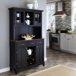 home styles black and cherry buffet with hutch 5100 0042 42 the