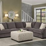 homelegance 8335 alamosa brown chenille cover sectional sofa