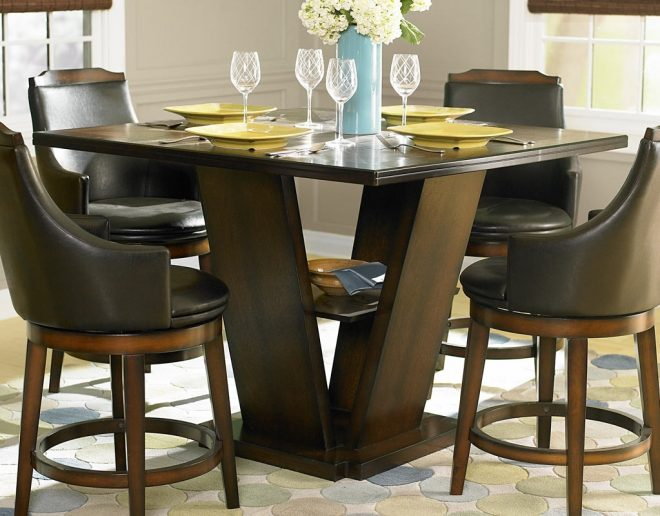 homelegance bayshore counter height dining table