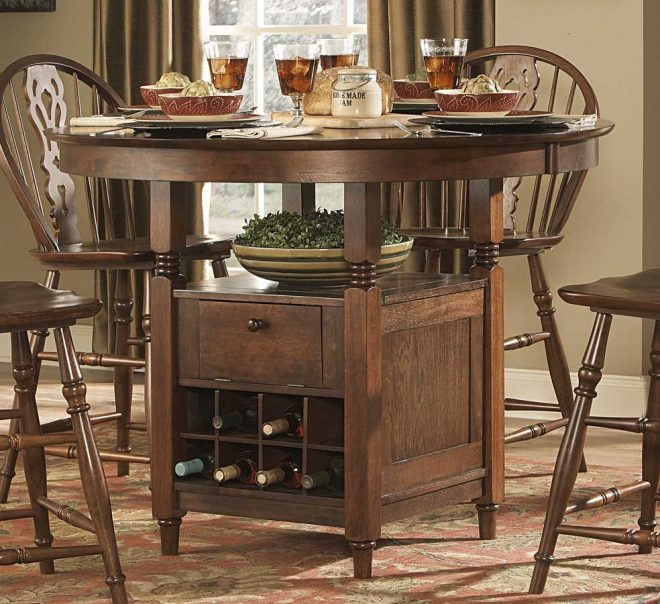 homelegance hutto round counter height dining table 807rd 36