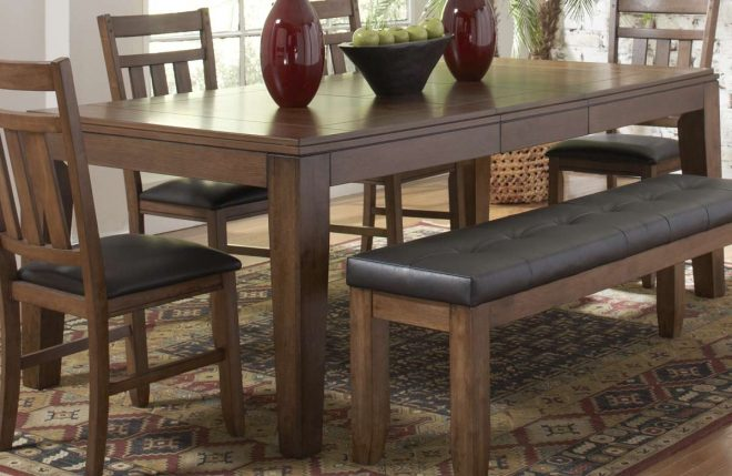 homelegance kirtland dining table with butterfly leaf 1399 83
